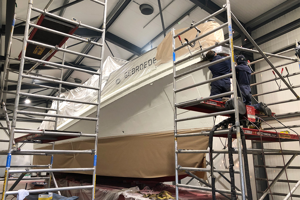 Onderhoud reddingsboot Gebroeders Luden