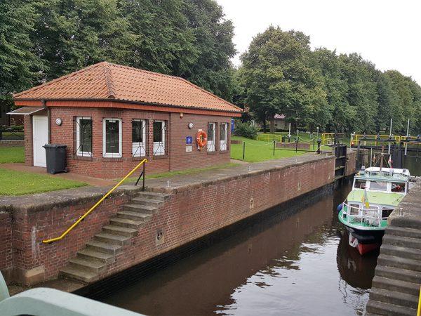 Sluis I in het Haren-Rütenbrock-Kanal